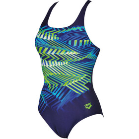 arena Spike One Piece Swimsuit Women navy-leaf